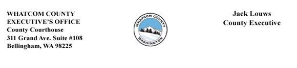 Whatcom County Executive's Office Letterhead