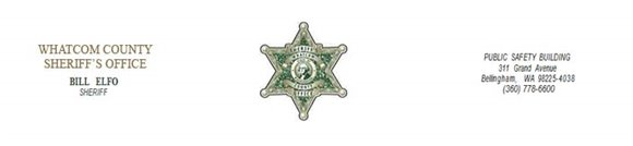 Whatcom County Sheriff's letterhead