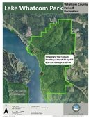 Lake Whatcom Park - Temporary Trail Closure