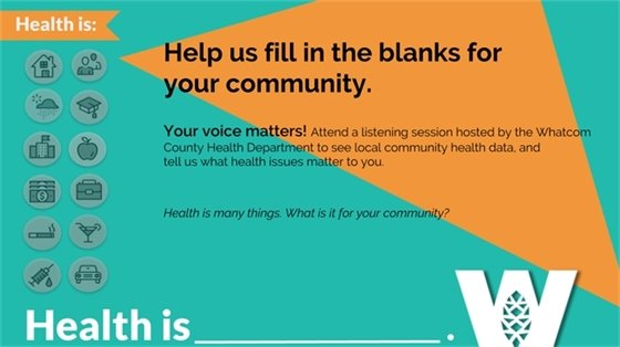 Health is many things. What is it for your community?