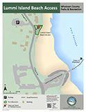 Lummi Island Beach Access map icon 124x160 Opens in new window